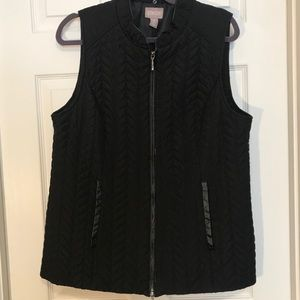Chico's Black Quilted Vest-Large(Chico's 2)